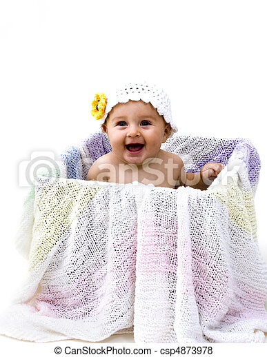 Baby on Box - csp4873978