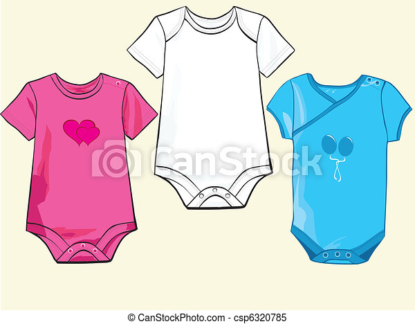 Baby onesie set in different styles - csp6320785