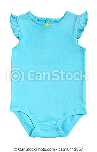005f5e5a7 Baby onesie isolated on white background.