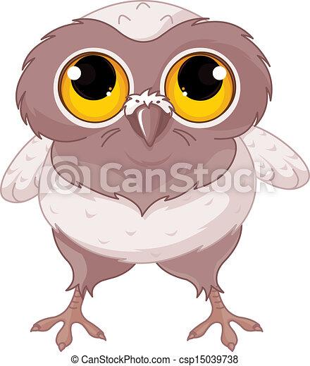 Baby Owl - csp15039738