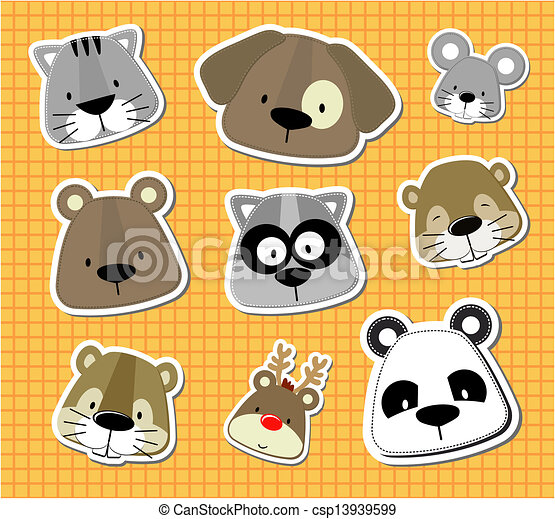 baby pet vector stickers - csp13939599