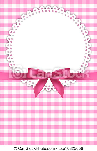 baby pink background with napkin  - csp10325656