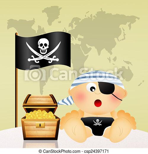 Baby Pirat Clipart (#2776521) - PinClipart