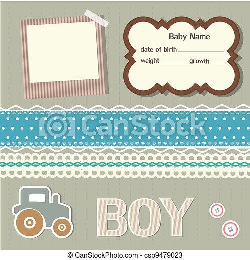 baby, plakboek, communie - csp9479023