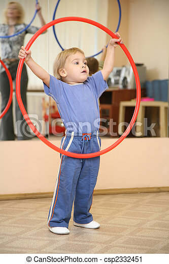 baby play with hoop - csp2332451