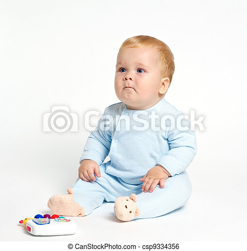 Baby playing with toy - csp9334356