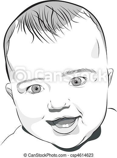 Baby portrait csp4614623