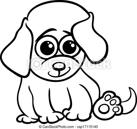 baby puppy cartoon coloring page black and white cartoon eps rh canstockphoto com pet animals clipart black and white puppy clipart black and white free