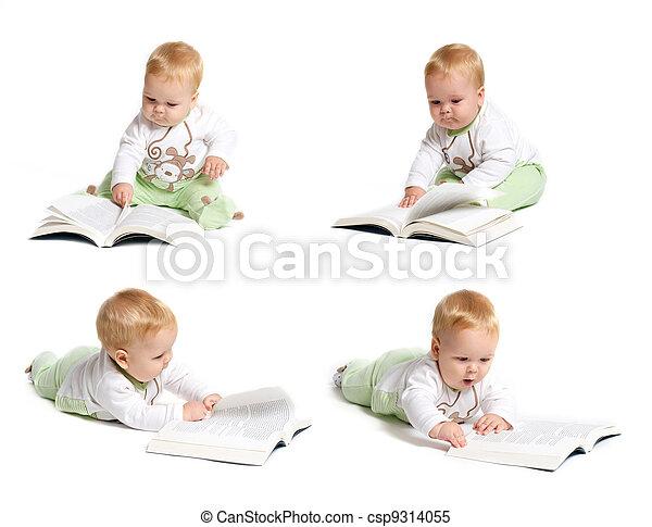 Baby reading - csp9314055