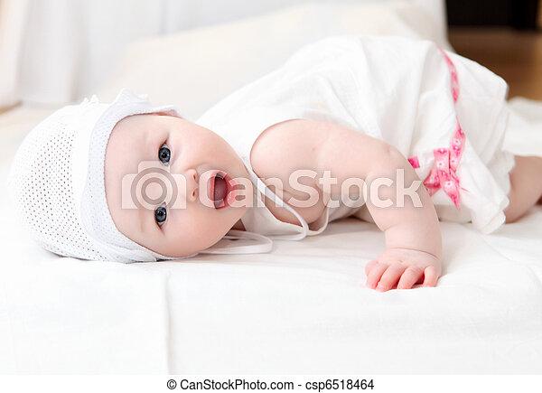 baby, reizend, hut - csp6518464