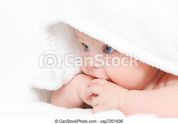 baby, reizend, m�dchen - csp7201636