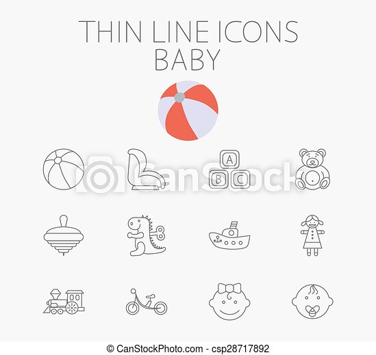 Baby related flat vector icon set - csp28717892