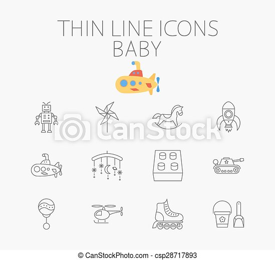 Baby related flat vector icon set - csp28717893