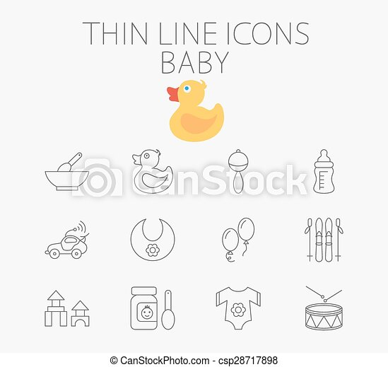 Baby related flat vector icon set - csp28717898