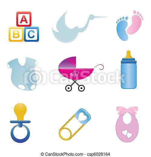 Baby related icon set - csp6028164