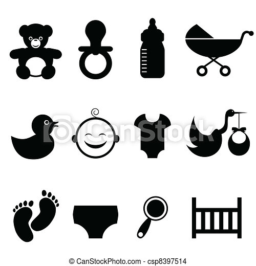 Baby related icon set - csp8397514