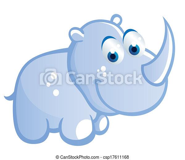 baby rhino cartoon - csp17611168