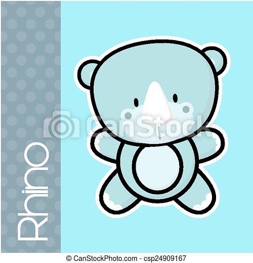 baby rhino - csp24909167