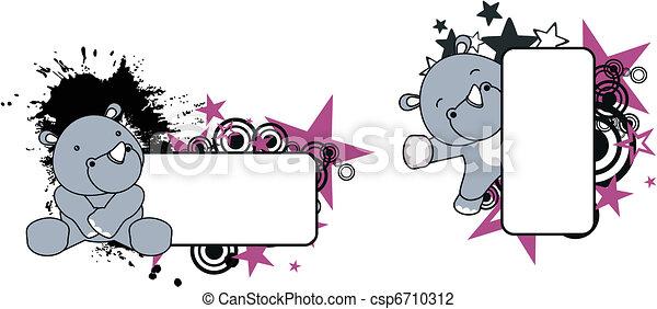 baby rhino copyspace 6 - csp6710312