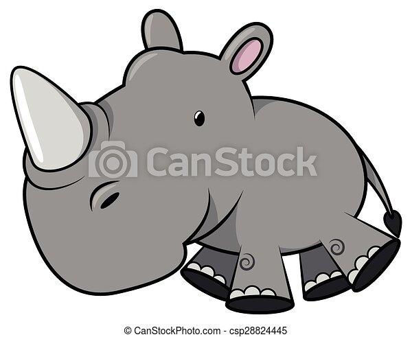 Baby rhino - csp28824445