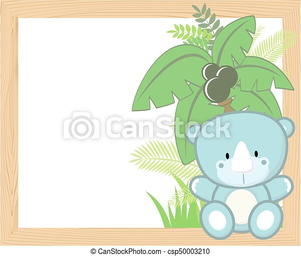 baby rhino frame - csp50003210