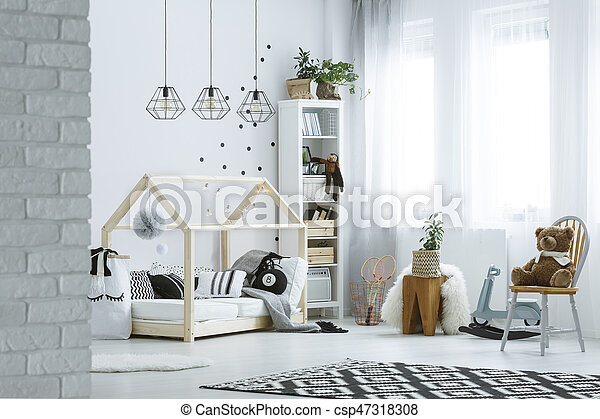 Baby room in loft - csp47318308