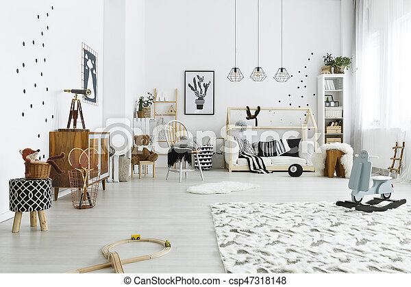 Baby room in style - csp47318148