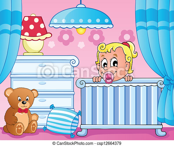Baby room theme image 1 - csp12664379