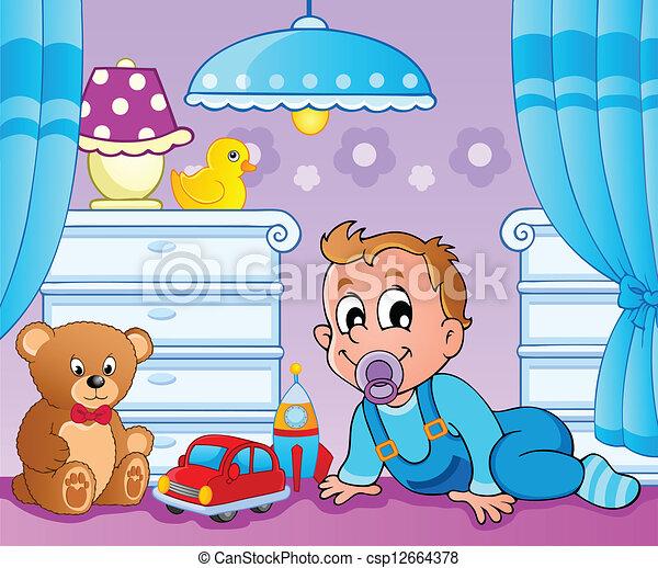 Baby room theme image 2 - csp12664378