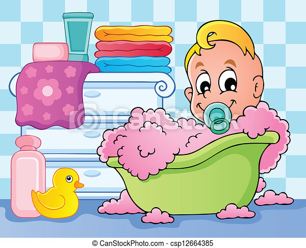 Baby room theme image 4 - csp12664385