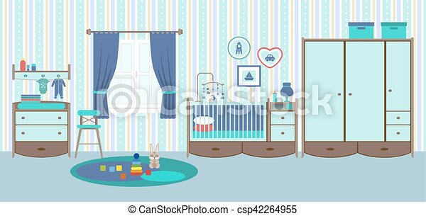 Baby room with furniture - csp42264955
