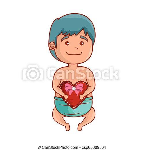 baby, schattig, weinig; niet zo(veel), hart - csp65089564