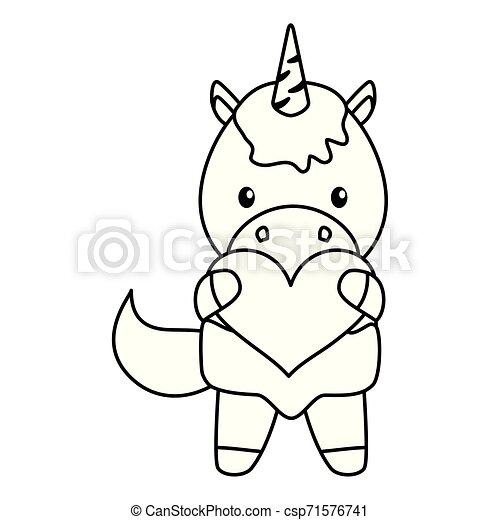 baby, schattig, weinig; niet zo(veel), eenhoorn, hart - csp71576741