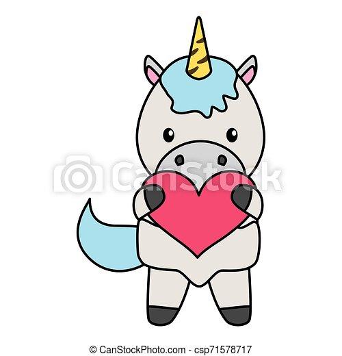 baby, schattig, weinig; niet zo(veel), eenhoorn, hart - csp71578717