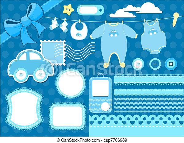 baby scrapbook elements - csp7706989