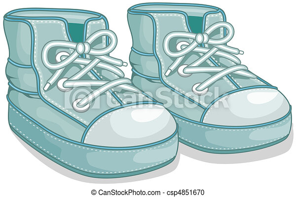 illustration of a pair of baby shoes stock illustration search rh canstockphoto com baby boy shoes clipart baby girl shoes clipart