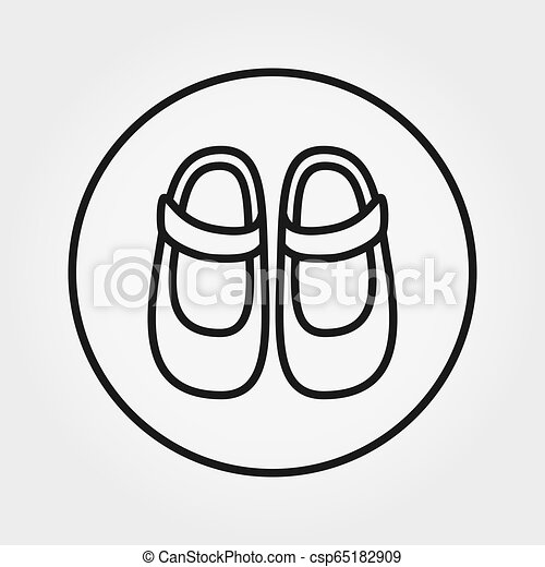Baby Shoes Icon Vector Editable Thin Line Baby Shoes Universal Icon For Web And Mobile Application Vector Illustration