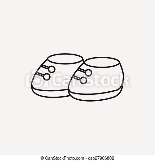 baby shoes line icon - csp27906802
