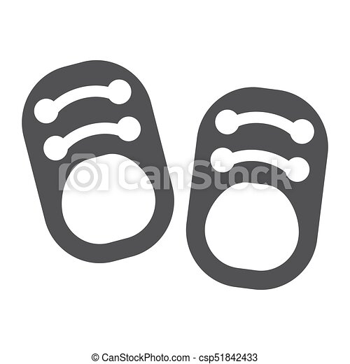 Baby Shoes Solid Icon Footwear And Fashion Vector Graphics A Filled Pattern On A White Background Eps 10