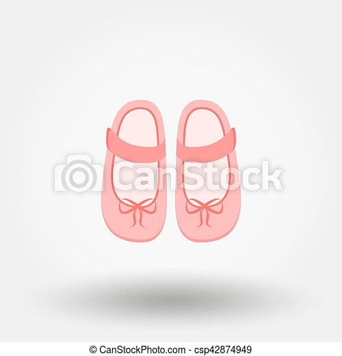 Baby Shoes Vector Illustration Shoes With Bows Baby Shoes Baby Shoes Icon For Web And Mobile Application Vector