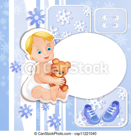 Baby shower blue card - csp11221040