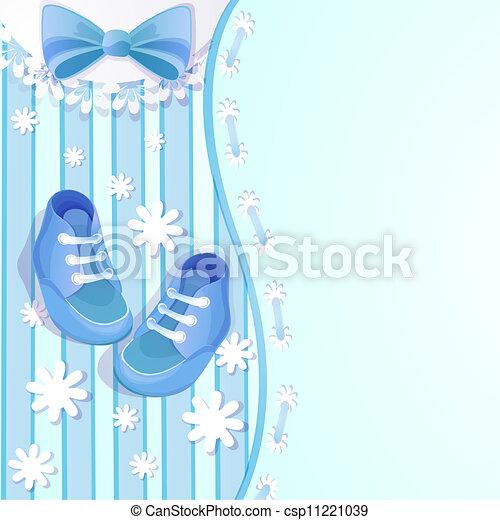 Baby shower blue card - csp11221039