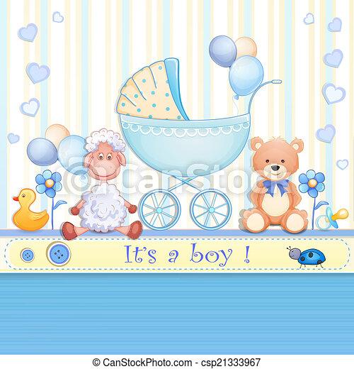 Baby shower card  - csp21333967