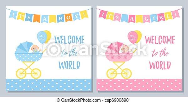 Baby Shower Card Design Vector Illustration Birthday Party Background Baby Shower Card Vector Baby Boy Girl Banner