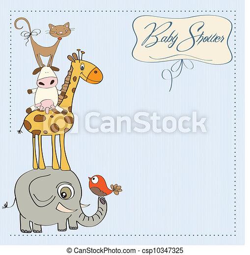 baby shower card - csp10347325