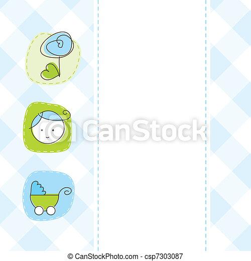 Baby shower card - csp7303087