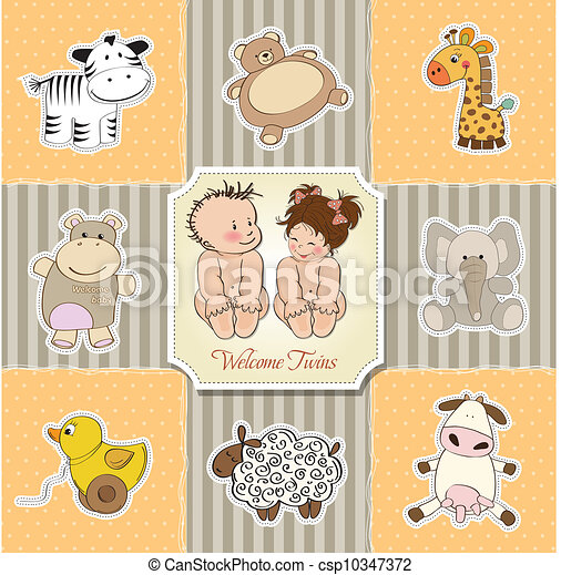 baby shower card template - csp10347372