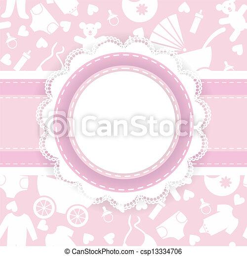Baby shower card. - csp13334706