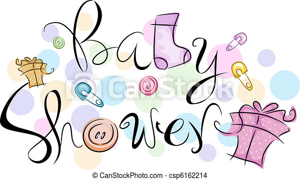 Text Featuring The Words Baby Shower Drawing Search Clip Art