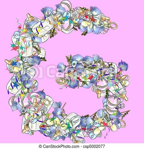 Baby shower gift letter name greeting card romantic stock baby shower gift letter name csp5002077 negle Image collections